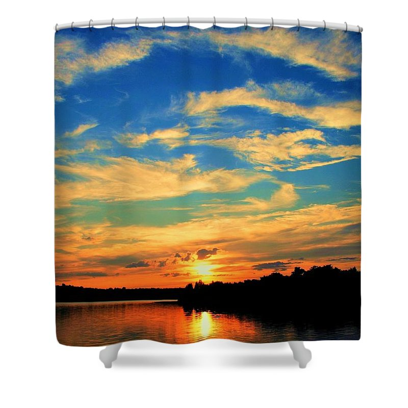 Sunset Shower Curtain featuring the photograph Touch The Wind by Mitch Cat