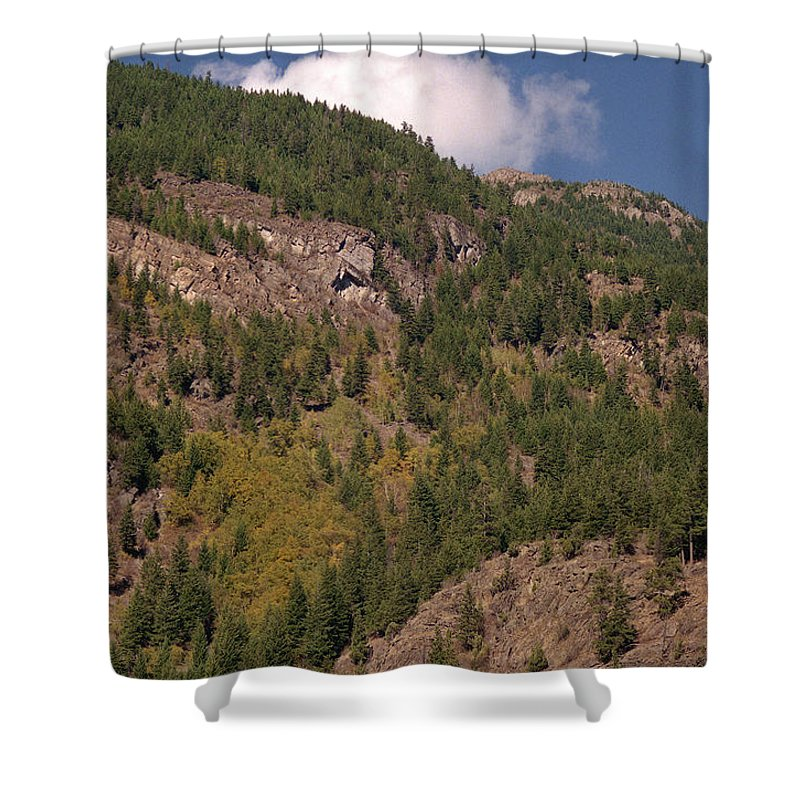 Mountains Shower Curtain featuring the photograph Touching The Clouds by Richard Rizzo
