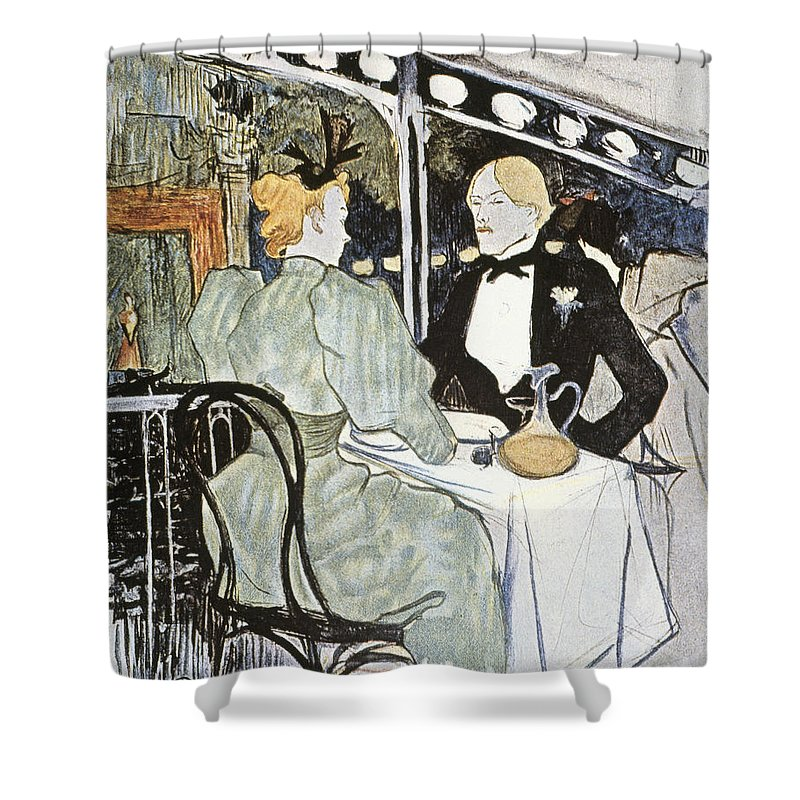 19th Century Shower Curtain featuring the photograph Toulouse-lautrec: Menu by Granger
