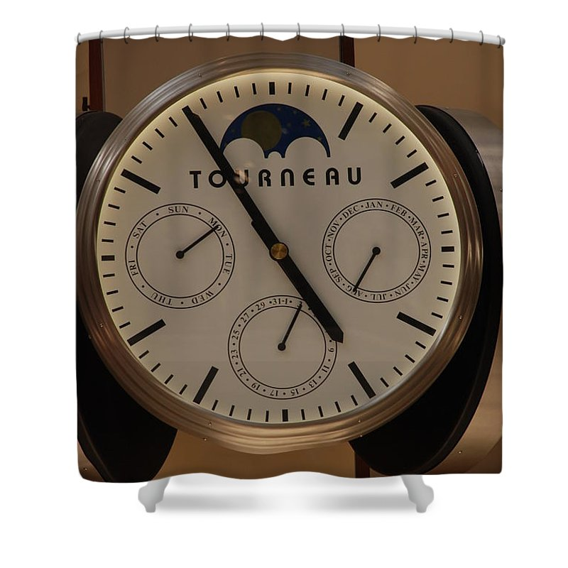 Clock Shower Curtain featuring the photograph Tourneau by Rob Hans