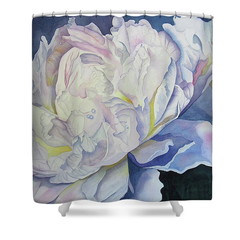 Floral Shower Curtain featuring the painting Toward The Light by Teresa Beyer