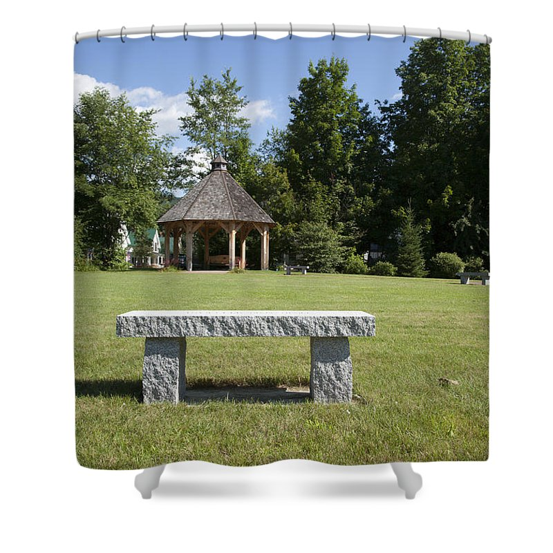 New Hampshire Shower Curtain featuring the photograph Town Park In Bartlett New Hampshire Usa by Erin Paul Donovan