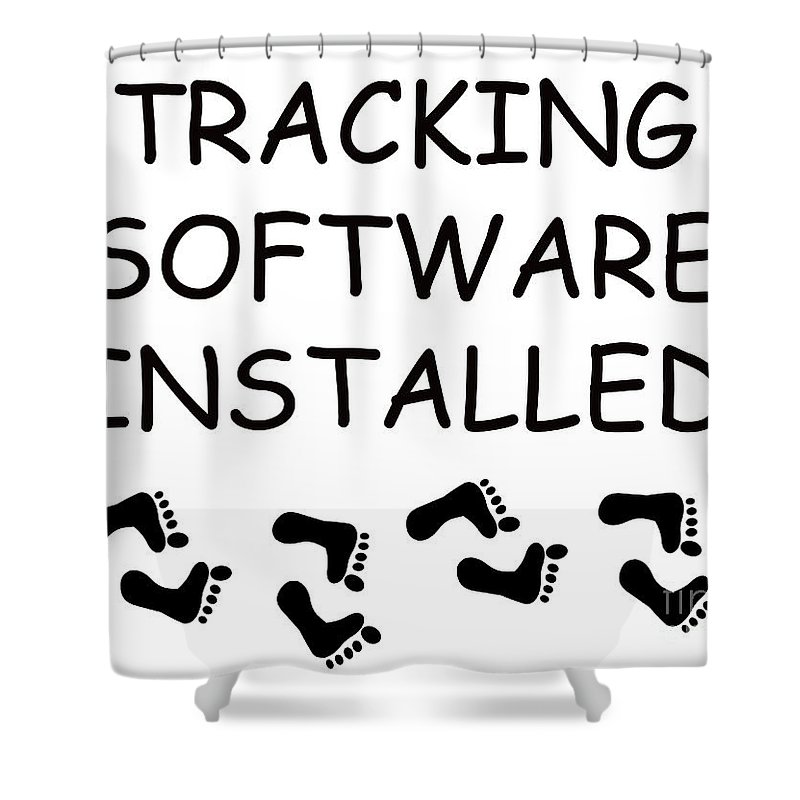 Track Shower Curtain featuring the digital art Tracking Software Installed by Richard Wareham