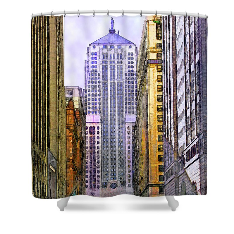 Trading Places Shower Curtain featuring the digital art Trading Places by John Beck