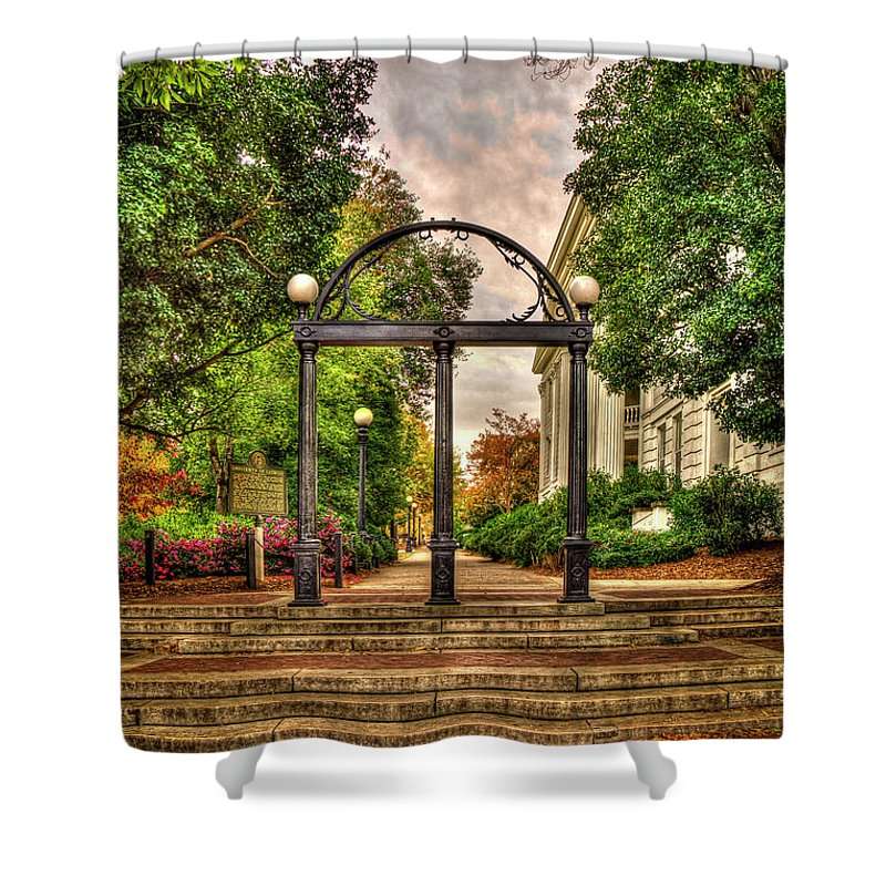 Charmant Reid Callaway Traditions Live On Shower Curtain Featuring The Photograph  Traditions Live On 3 The Arch