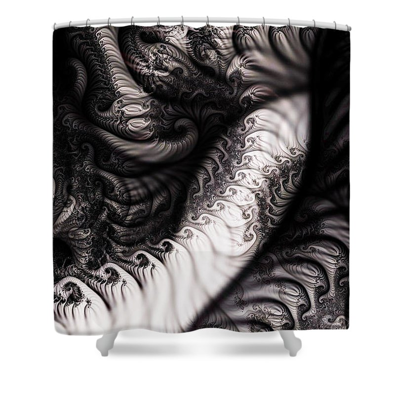 Clay Shower Curtain featuring the digital art Traffic Jam by Clayton Bruster