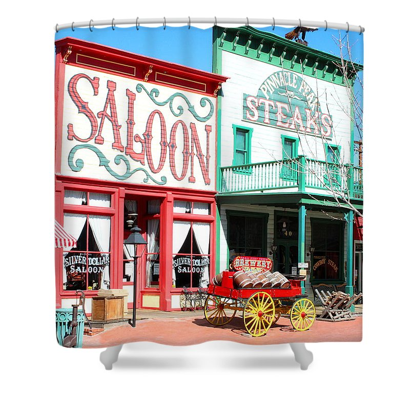 Saloon Shower Curtain featuring the photograph Trail Dust Town by M Diane Bonaparte