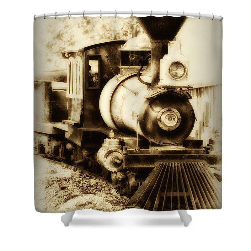 Train Shower Curtain featuring the photograph Train Keeps A Rolling by Bill Cannon