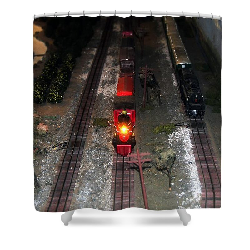 Train Shower Curtain featuring the photograph Train Set by David Lee Thompson