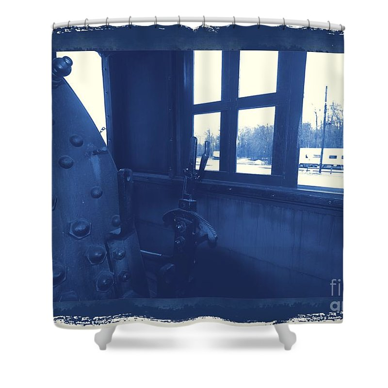 Train Shower Curtain featuring the photograph Trains 5 3a by Jay Mann