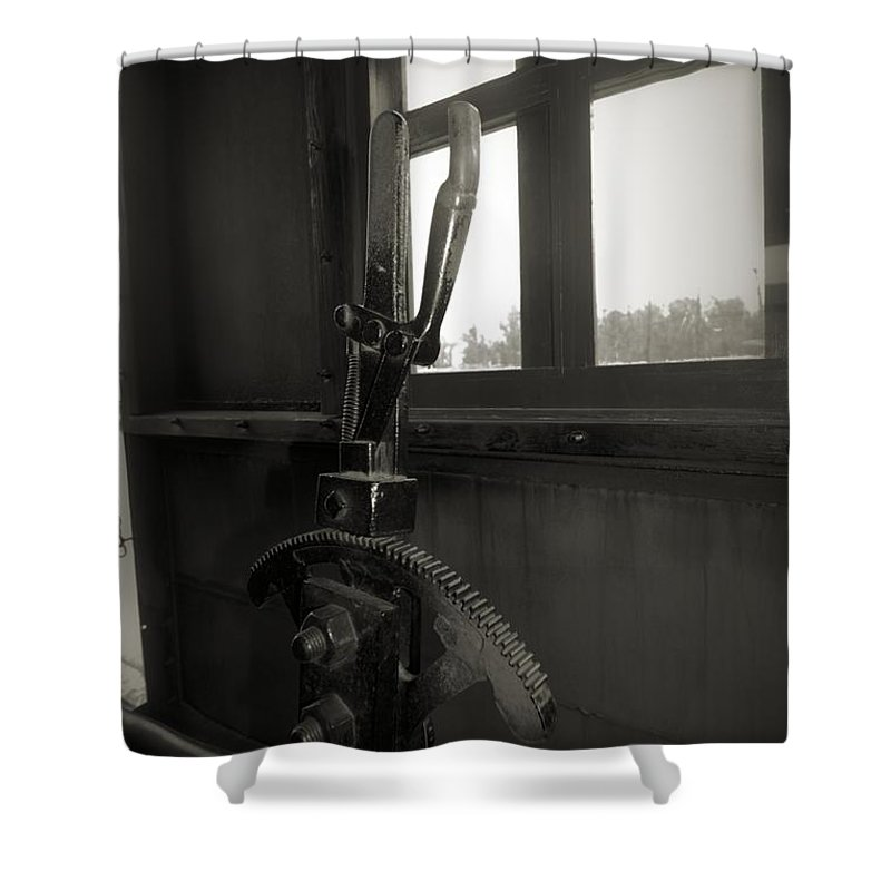 Train Shower Curtain featuring the photograph Trains 6 4 by Jay Mann
