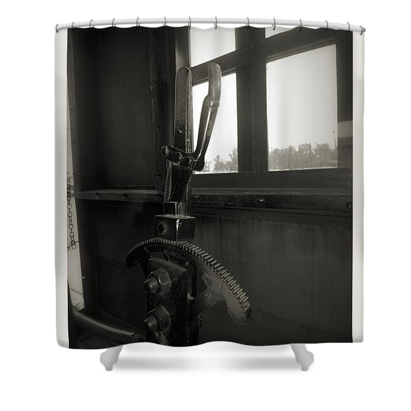 Train Shower Curtain featuring the photograph Trains 6 4a by Jay Mann