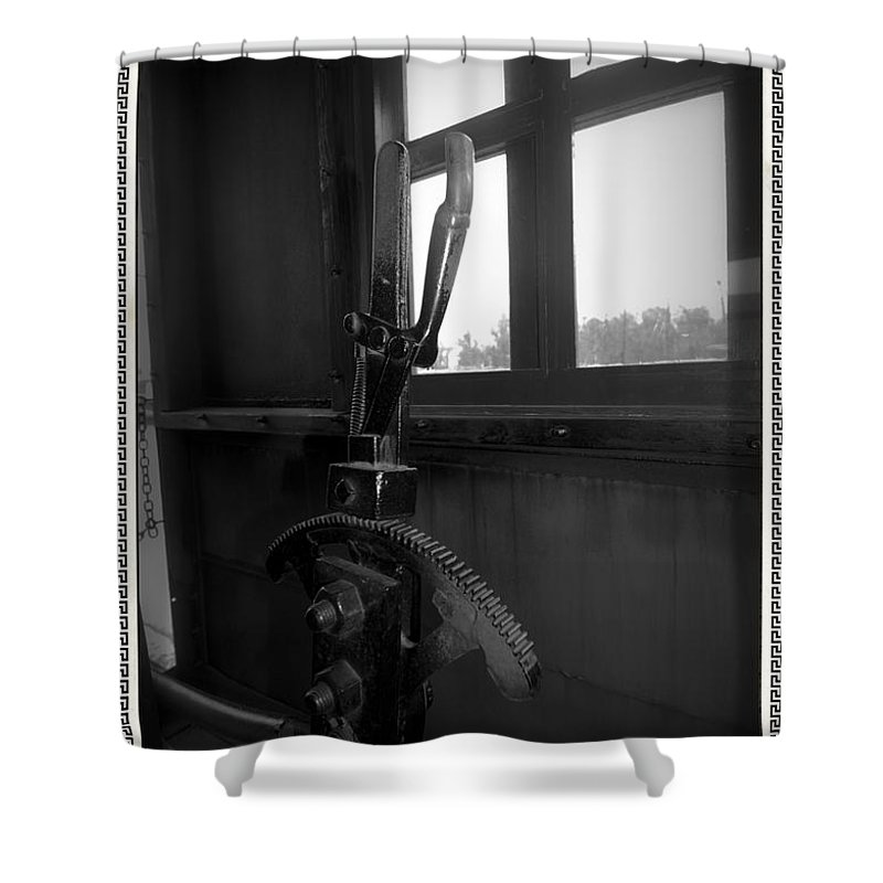 Train Shower Curtain featuring the photograph Trains 6 6a by Jay Mann