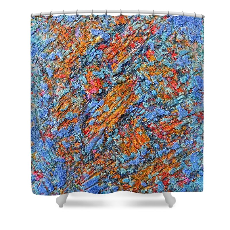 Abstract Shower Curtain featuring the painting Trama by Andres Bestard