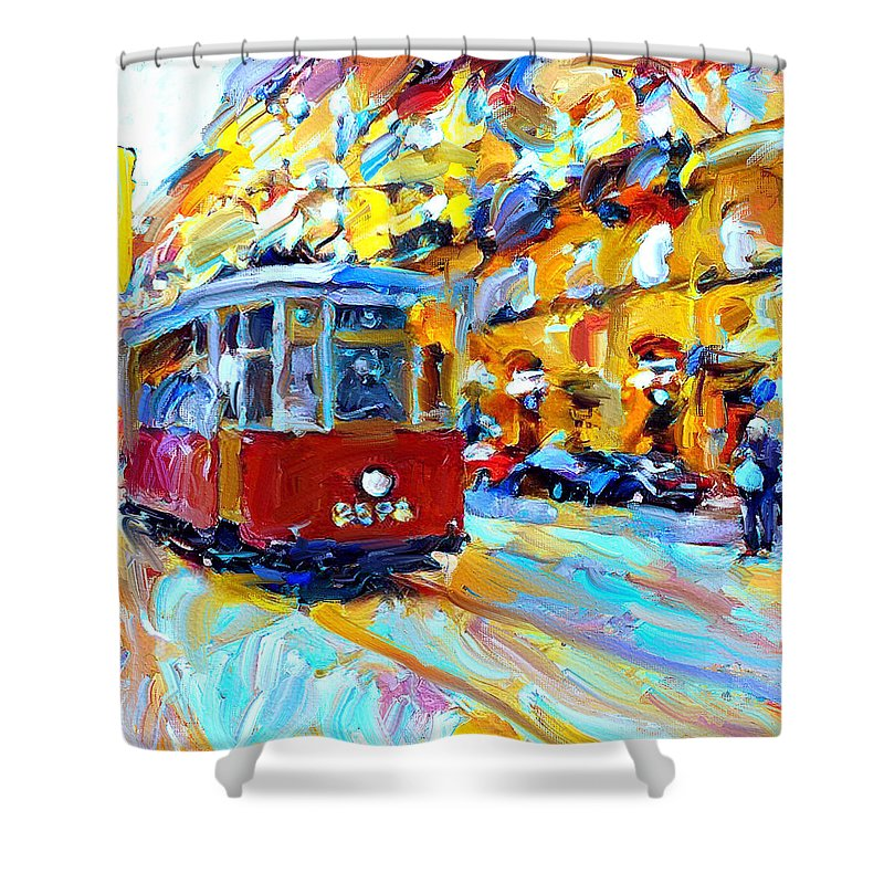 Saint Shower Curtain featuring the digital art Tramp Stop by Yury Malkov