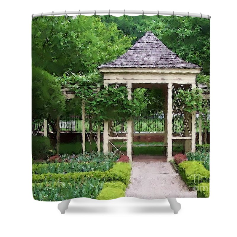 Garden Shower Curtain featuring the photograph Tranquil by Debbi Granruth