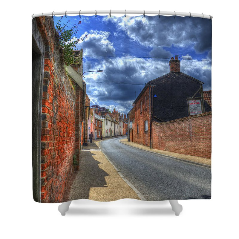 Northgate Shower Curtain featuring the digital art Tranquil by Nigel Bangert