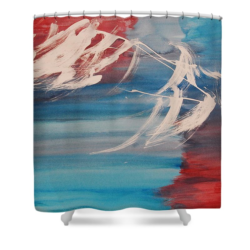 Tranquility Shower Curtain featuring the painting Tranquilidad 2 by Lauren Luna