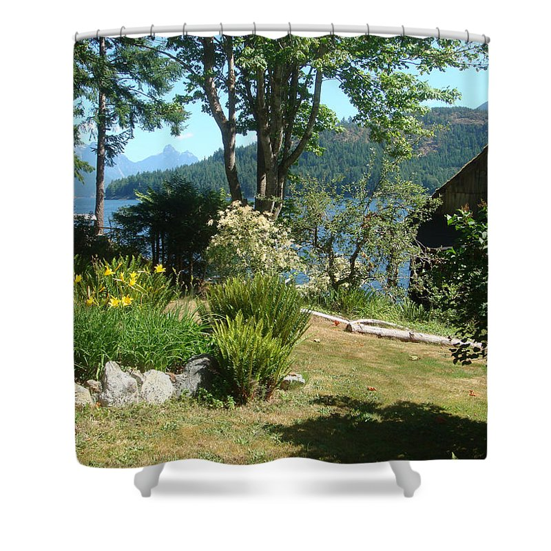 Tranquility Shower Curtain featuring the photograph Tranquility At Egmont by Lauris Burns