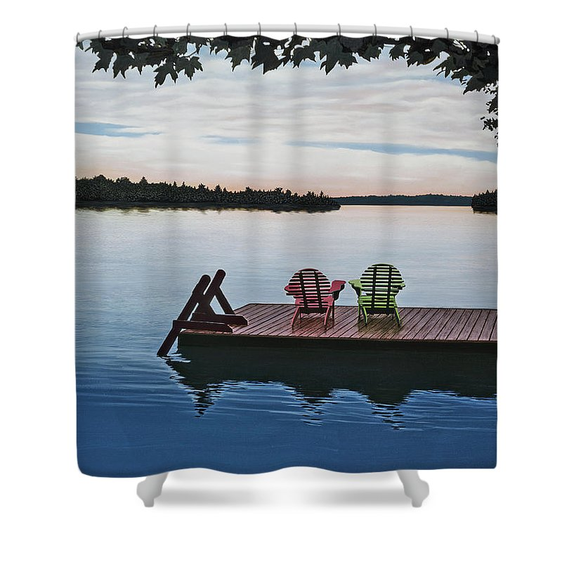 Landscapes Paintings Shower Curtain featuring the painting Tranquility by Kenneth M Kirsch