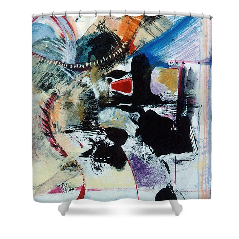Transcendance Shower Curtain featuring the drawing Transcendance by Kerryn Madsen-Pietsch