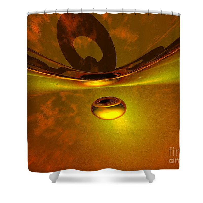 Visionary Shower Curtain featuring the digital art Transcending by Oscar Basurto Carbonell