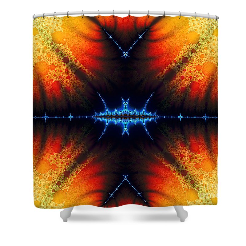 Clay Shower Curtain featuring the digital art Transient Propagation by Clayton Bruster