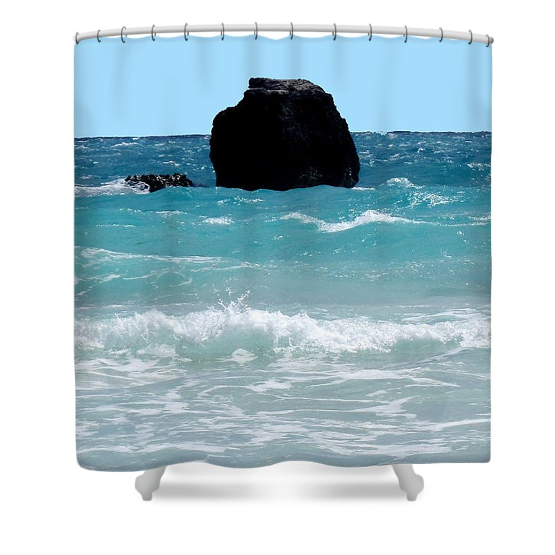 Bermuda Shower Curtain featuring the photograph Translucent by Ian MacDonald