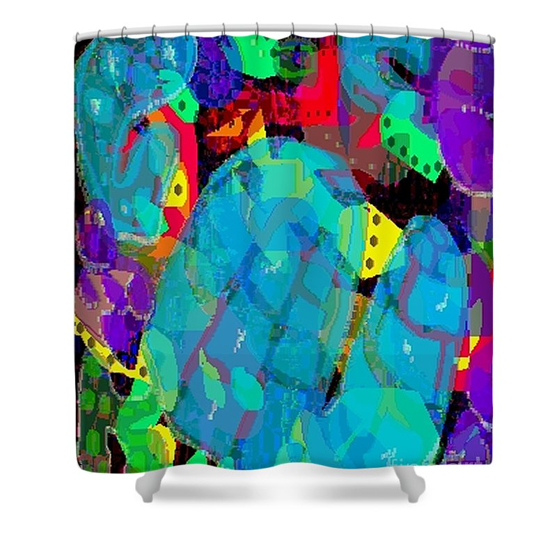 Digital Shower Curtain featuring the digital art Transparencies by Ron Bissett