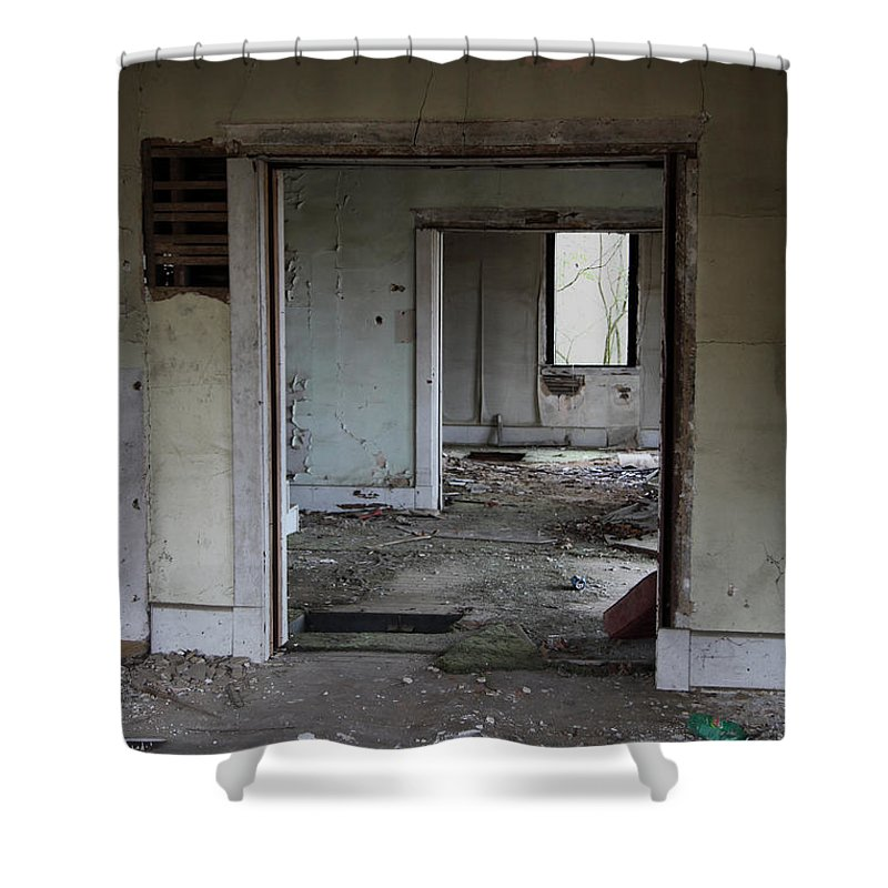 Old Houses Shower Curtain featuring the photograph Travel by Amanda Barcon