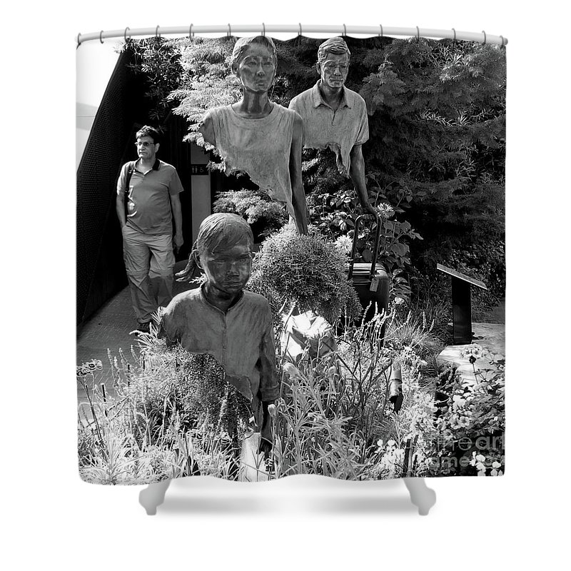 Walk Shower Curtain featuring the photograph Travelers by PJ Boylan