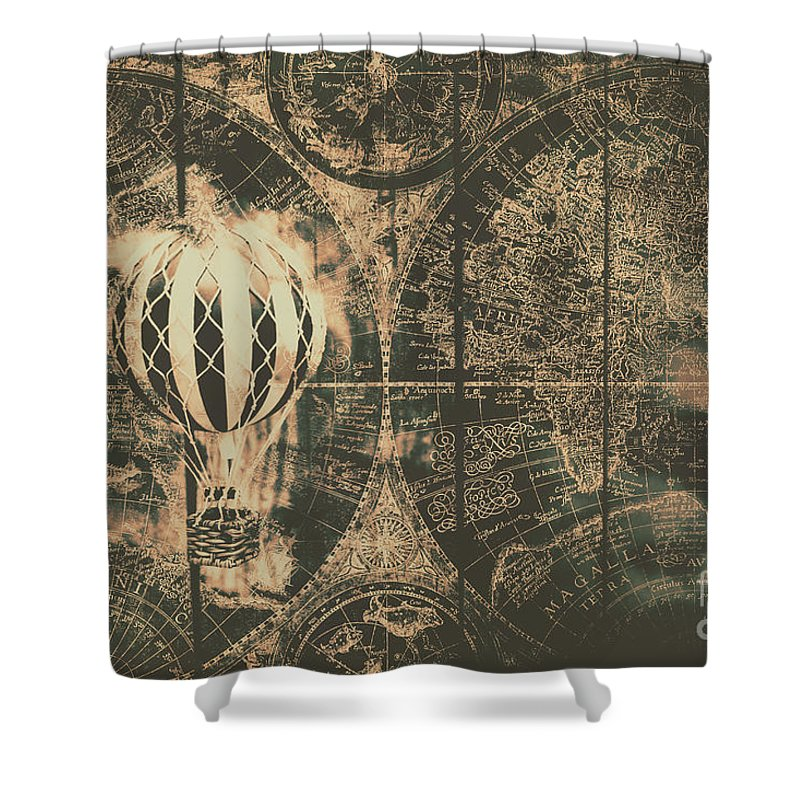 Vintage Aircraft Shower Curtains