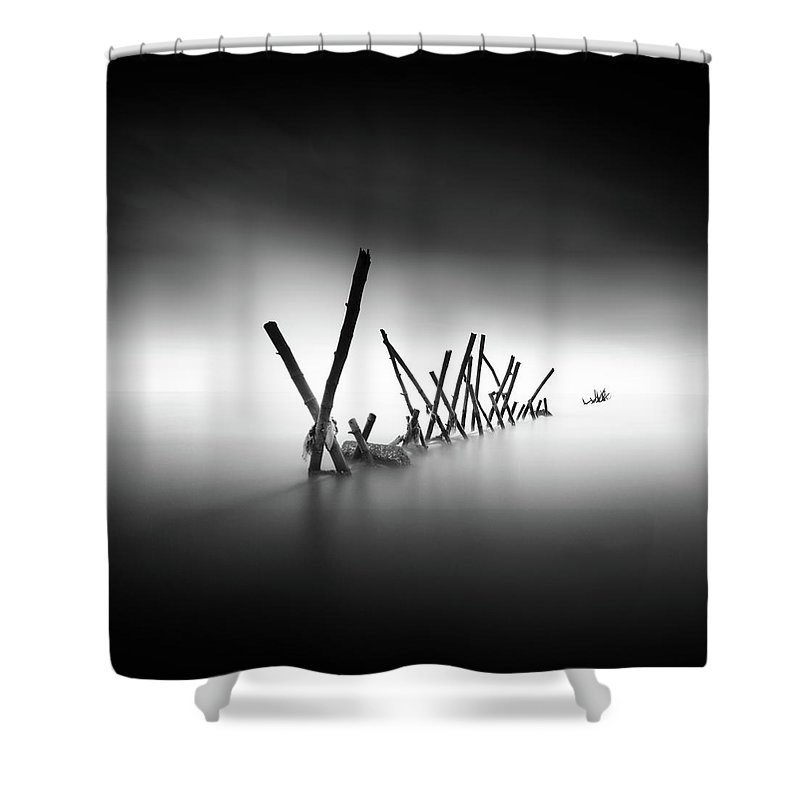 Fineart Shower Curtain featuring the photograph Traversee by Dicky Sangadji