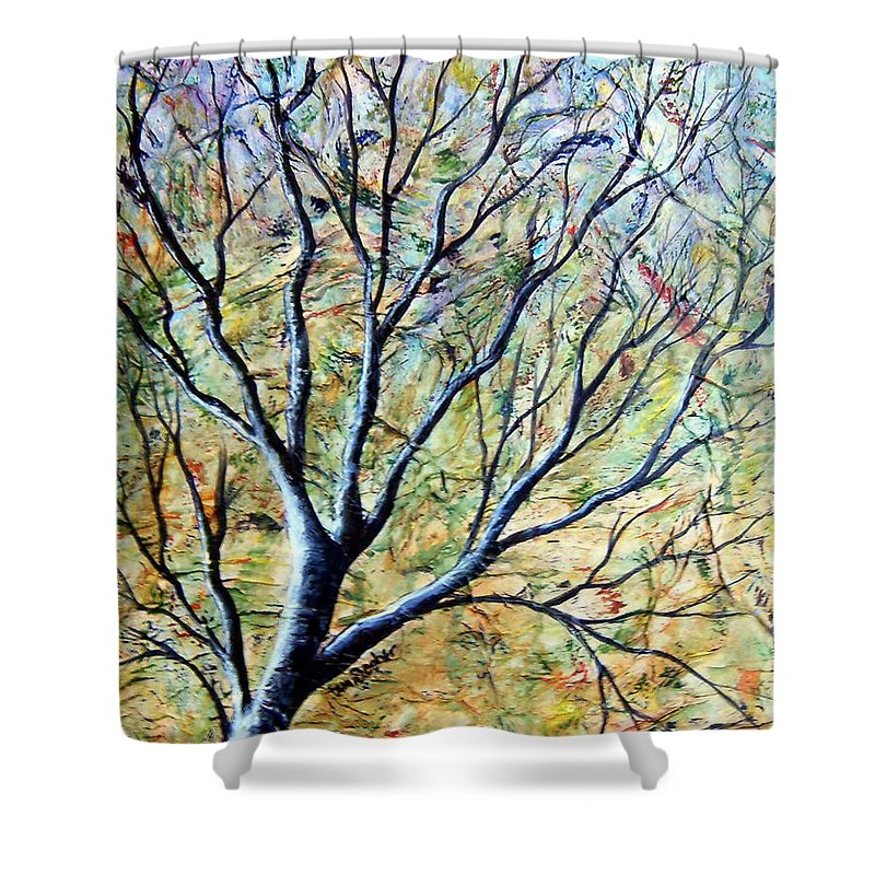 Shower Curtain featuring the painting Tree 3 by Tami Booher