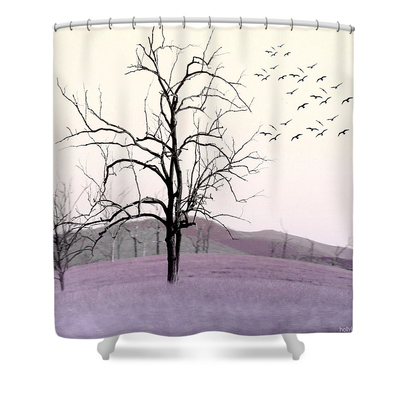 Tree Shower Curtain featuring the photograph Tree Change by Holly Kempe