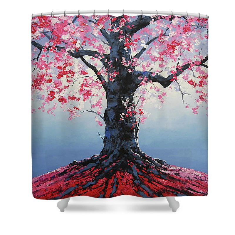 Tree Of Life Shower Curtain Featuring The Painting By Graham Gercken