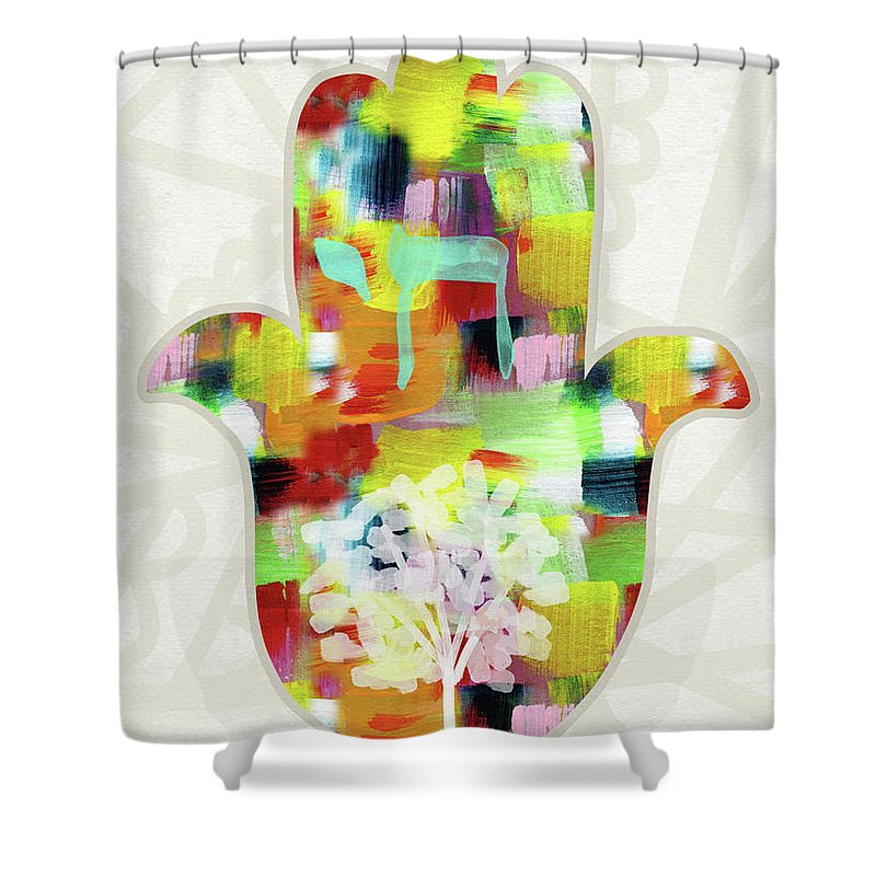 Green Eyes Shower Curtains