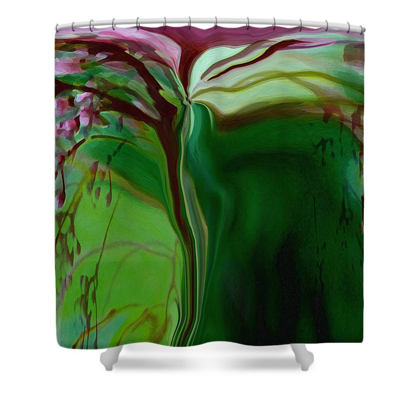 Tree Life Art Shower Curtain featuring the digital art Tree Of Life by Linda Sannuti