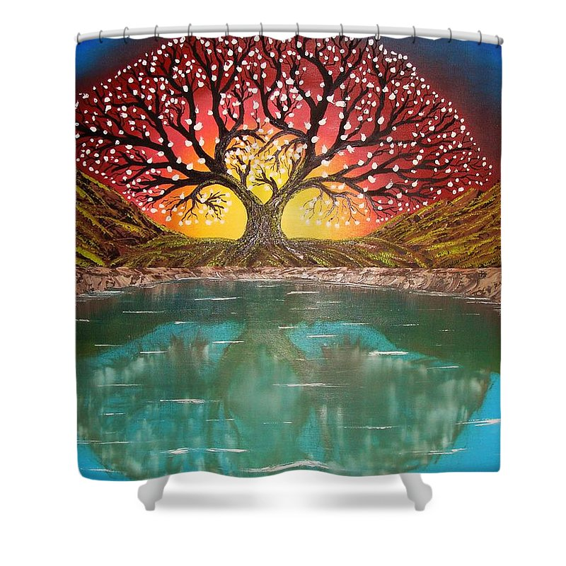 Tree Of Life Shower Curtain For Sale By Mile Sorin Milutinovici