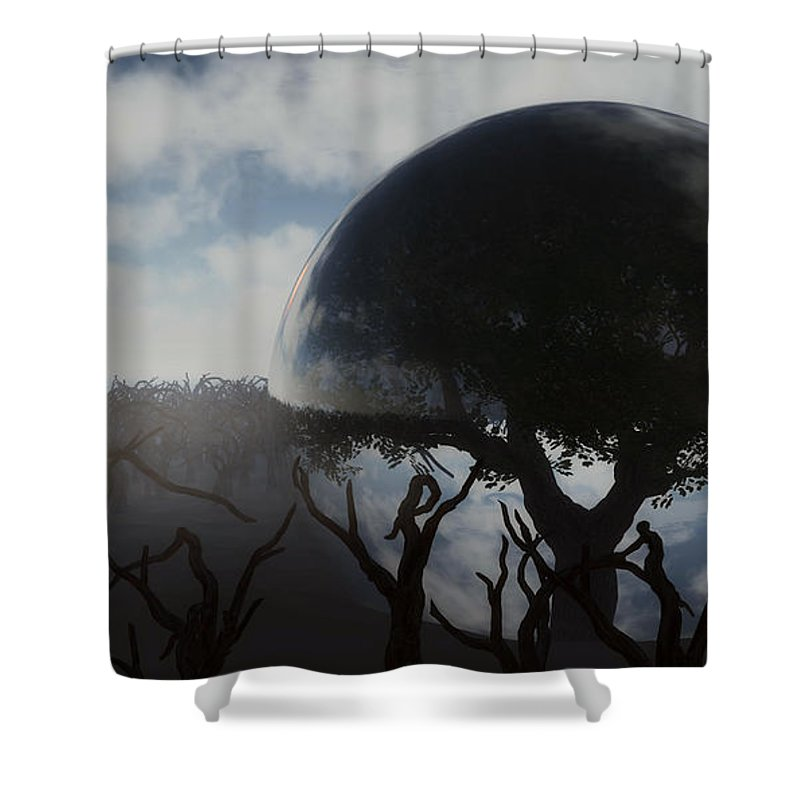 Life Shower Curtain featuring the digital art Tree Of Life by Richard Rizzo