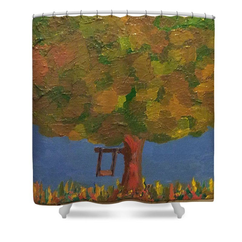 tree Shower Curtain featuring the painting Tree Of Youth by Jennifer L Johnson