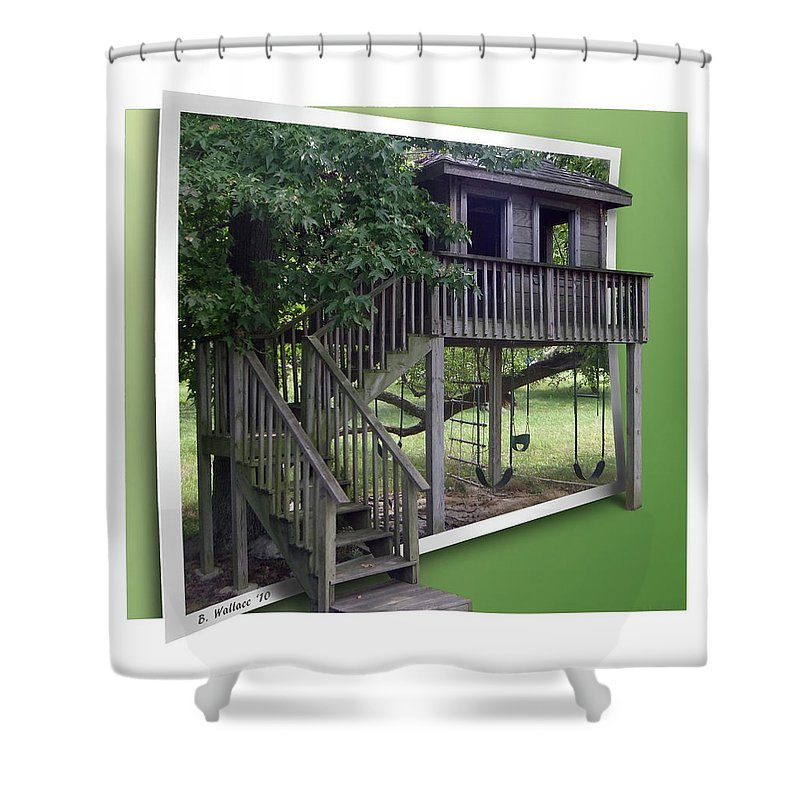 2d Shower Curtain featuring the photograph Treehouse Playground by Brian Wallace