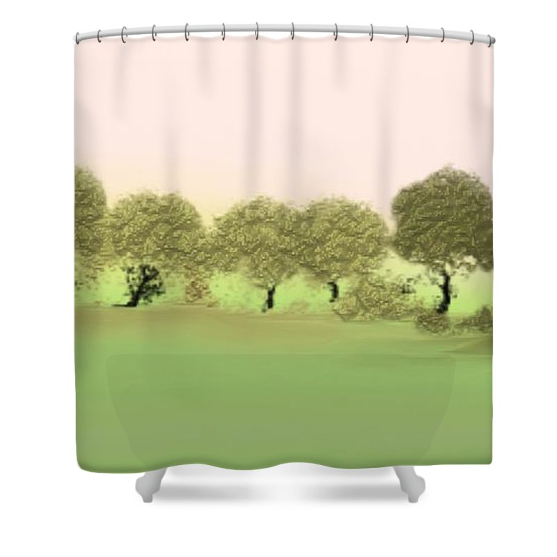 Tree Shower Curtain featuring the painting Treeline by Gina Lee Manley