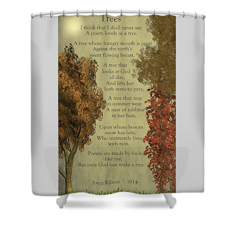 Trees Shower Curtain Featuring The Digital Art By David Dehner