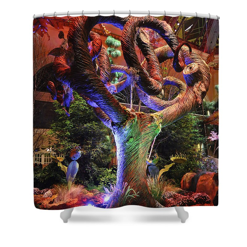 Trees Shower Curtain featuring the photograph Trees Of Bellagio by Chris Fleming