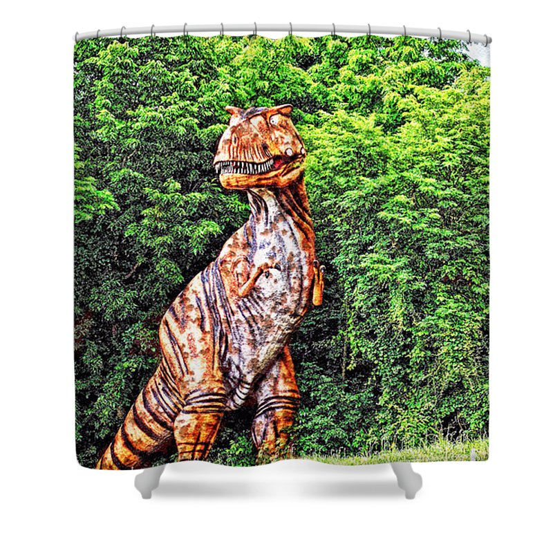 Dinosaur Shower Curtain featuring the photograph Trex by Bob Welch