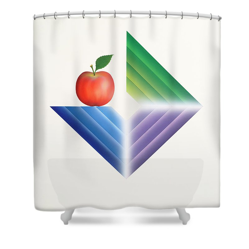 Fine Art Shower Curtain featuring the painting Triangle...1015 by Panos Pliassas
