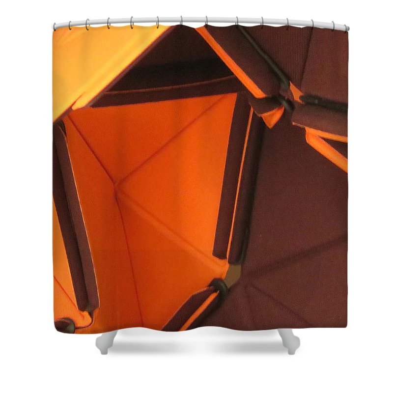 Abstract Shower Curtain featuring the photograph Triangles by Cindy Kellogg