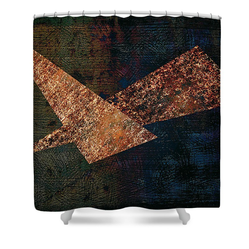 Triangles Shower Curtain featuring the digital art Triangles by Ramon Martinez