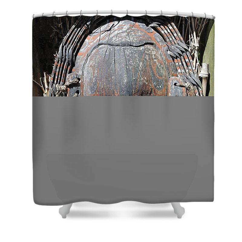 Mask Shower Curtain featuring the photograph Tribal Mask by Kenneth Albin